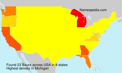 Surname Baura in USA