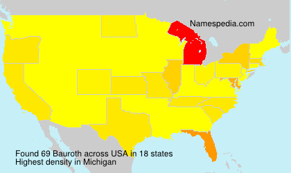 Surname Bauroth in USA