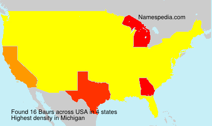 Surname Baurs in USA