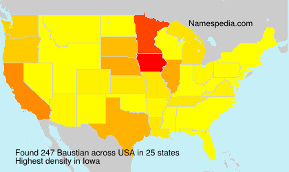 Surname Baustian in USA