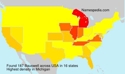 Familiennamen Bauswell - USA