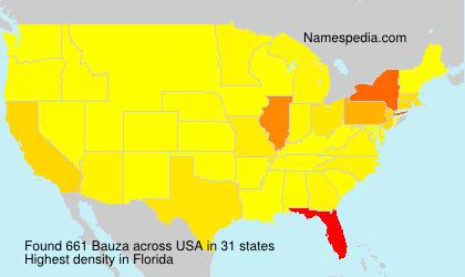 Surname Bauza in USA
