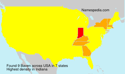 Surname Baven in USA