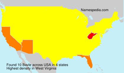 Surname Bavle in USA