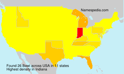 Surname Bawi in USA