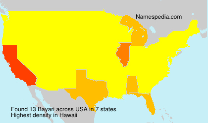 Surname Bayari in USA
