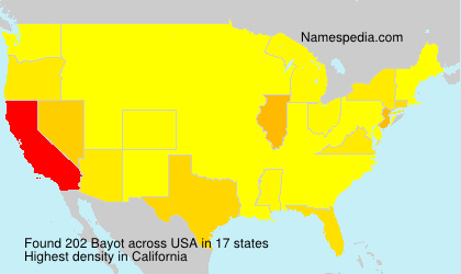 Surname Bayot in USA