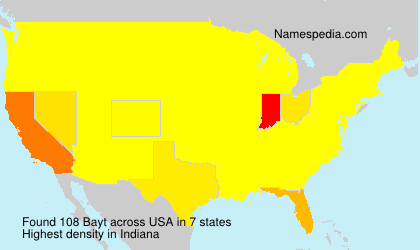 Surname Bayt in USA