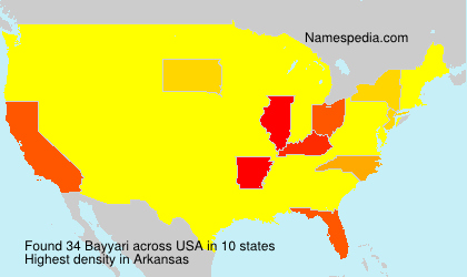 Surname Bayyari in USA