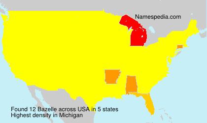 Familiennamen Bazelle - USA