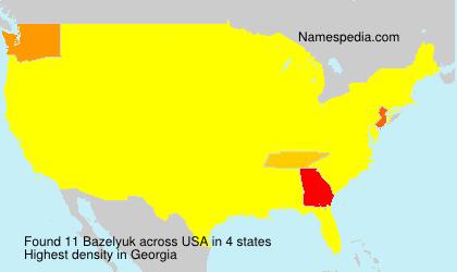 Familiennamen Bazelyuk - USA