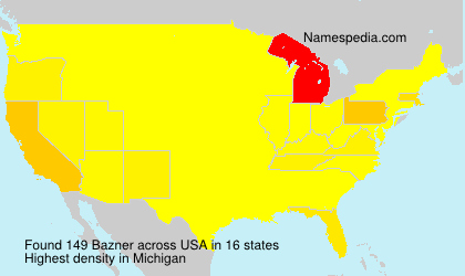 Surname Bazner in USA