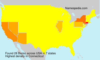 Surname Bazso in USA