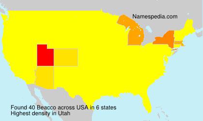 Familiennamen Beacco - USA