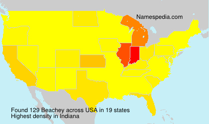 Surname Beachey in USA