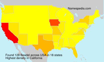 Familiennamen Beadel - USA