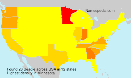 Surname Beadie in USA