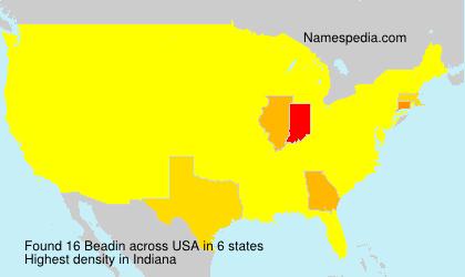 Familiennamen Beadin - USA