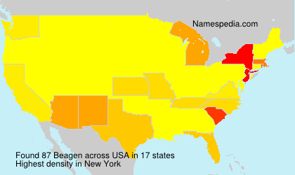 Surname Beagen in USA