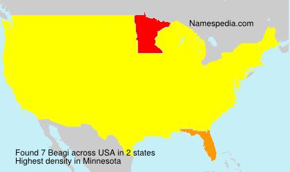 Familiennamen Beagi - USA