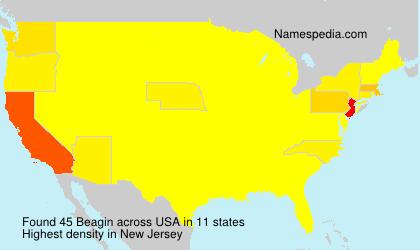 Surname Beagin in USA