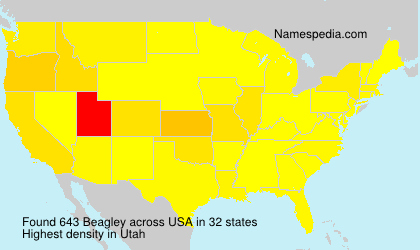 Surname Beagley in USA