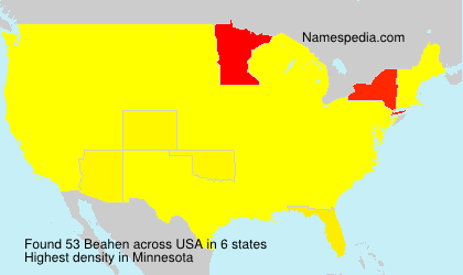 Surname Beahen in USA