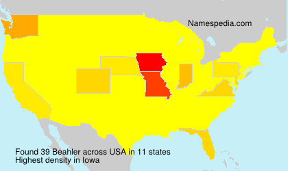 Familiennamen Beahler - USA