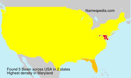 Familiennamen Beain - USA