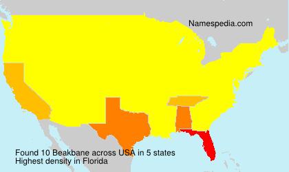 Familiennamen Beakbane - USA