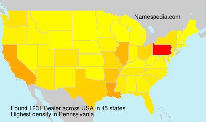 Familiennamen Bealer - USA