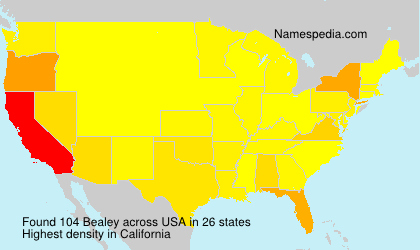 Familiennamen Bealey - USA