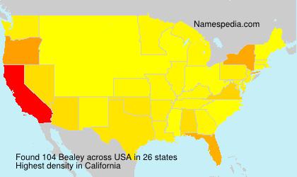 Familiennamen Bealey - USA