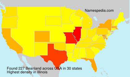 Familiennamen Beanland - USA