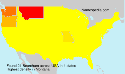 Surname Bearchum in USA