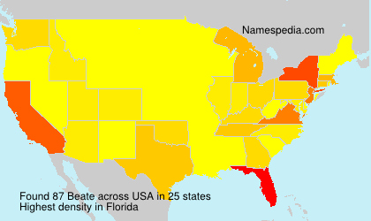 Surname Beate in USA