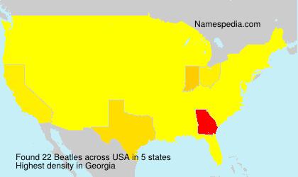 Familiennamen Beatles - USA