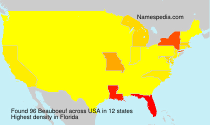 Surname Beauboeuf in USA