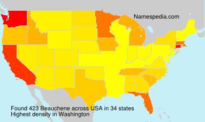 Surname Beauchene in USA