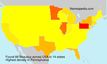 Surname Beauduy in USA