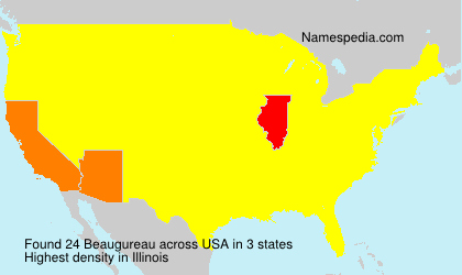 Surname Beaugureau in USA