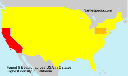 Surname Beaujot in USA