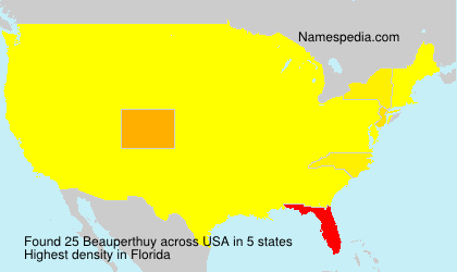 Surname Beauperthuy in USA