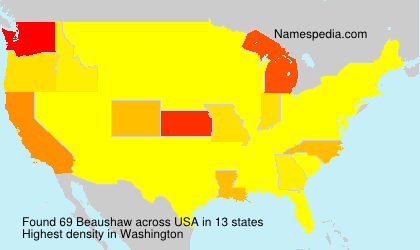 Surname Beaushaw in USA