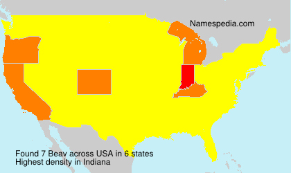 Surname Beav in USA