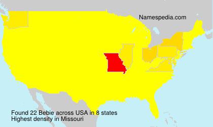 Surname Bebie in USA