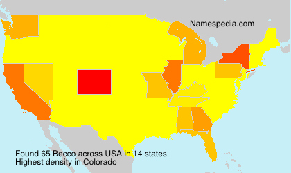 Surname Becco in USA