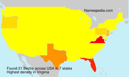 Familiennamen Beche - USA