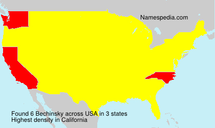 Surname Bechinsky in USA
