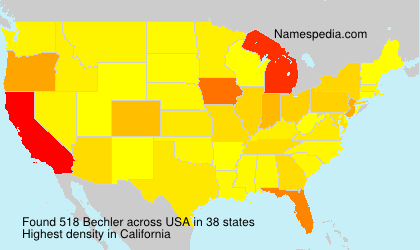 Surname Bechler in USA